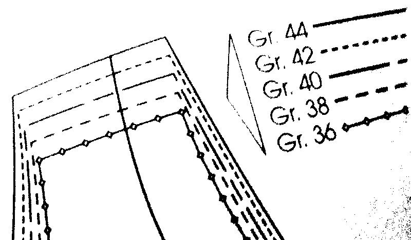e07c68f82a7 Kui lõige on nii pikk, et ei mahu lõikelehele, siis näitavad nooltega joone  juures olevad numbrid, mitme sentimeetri võrra tuleb seda joont  sirgjooneliselt ...