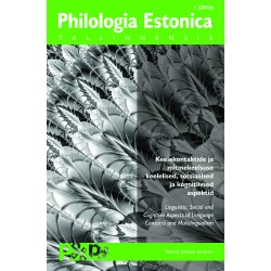 Philologia Estonica Tallinnensis I (2016)