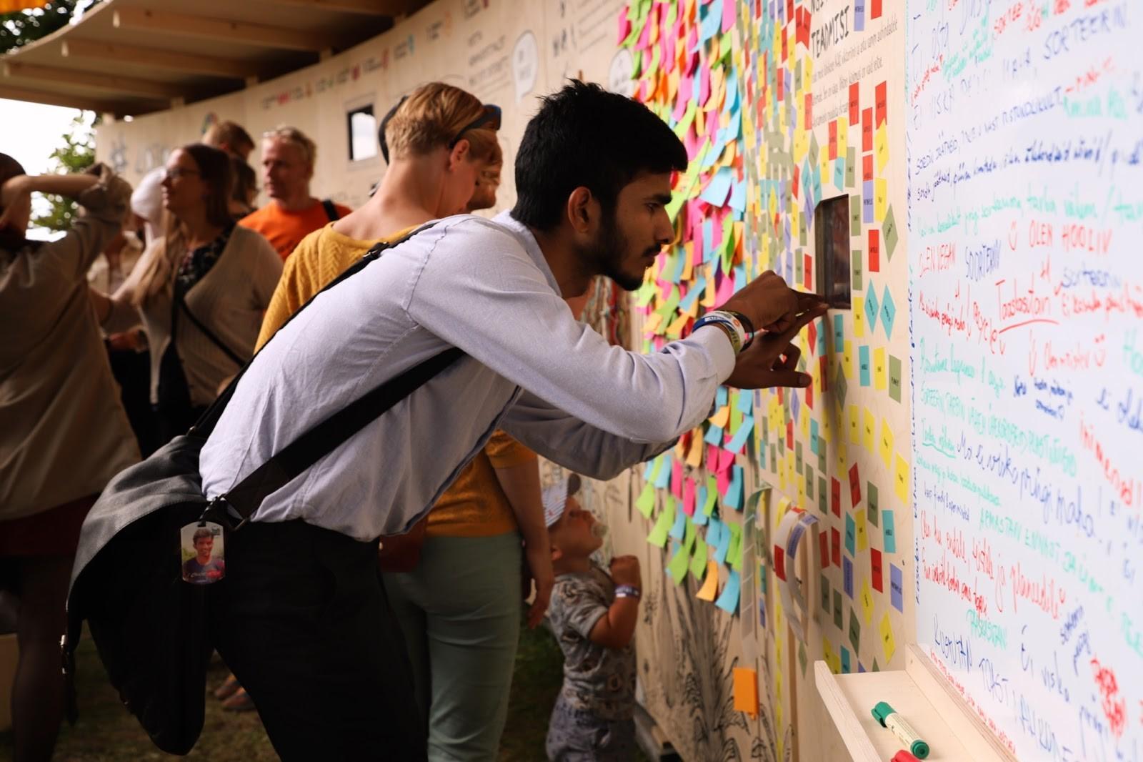 Kestliku arengu interaktiivne sein Arvamusfestivalil