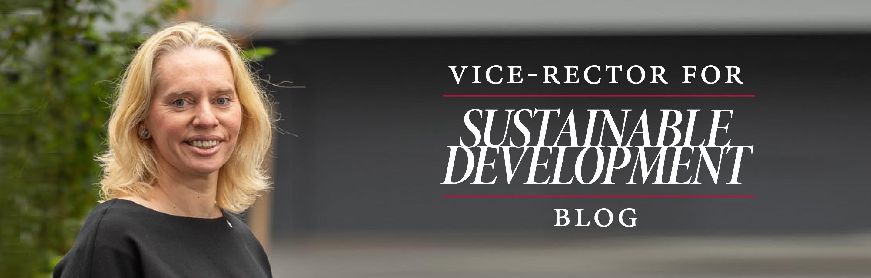 Vice-Rector for Sustainable development blog