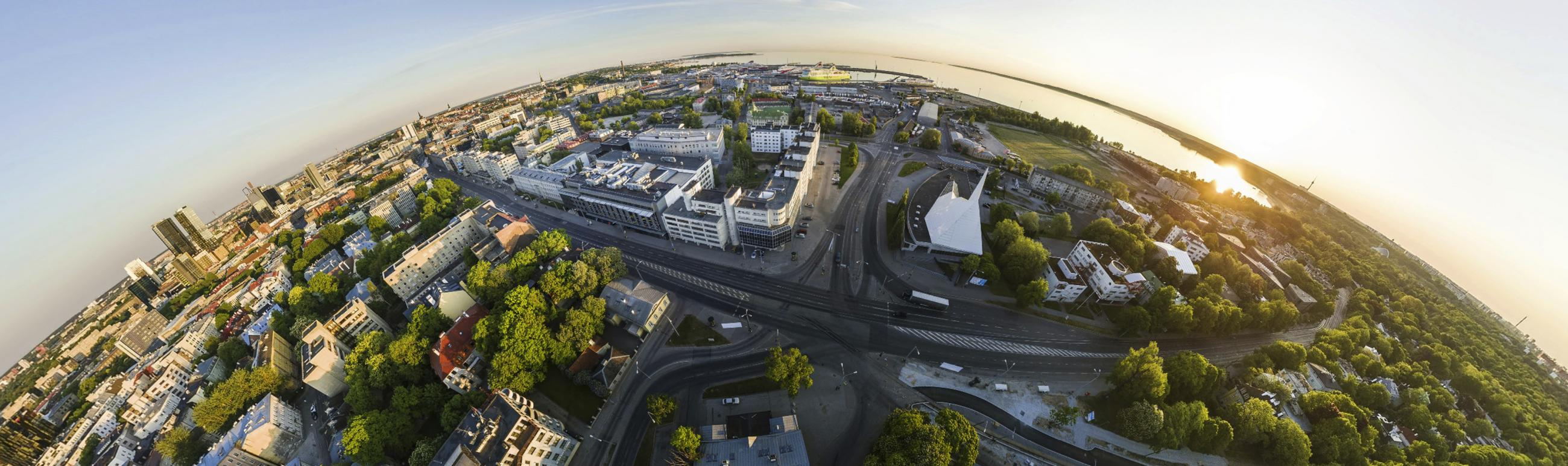 Tallinn University campus birds eye view