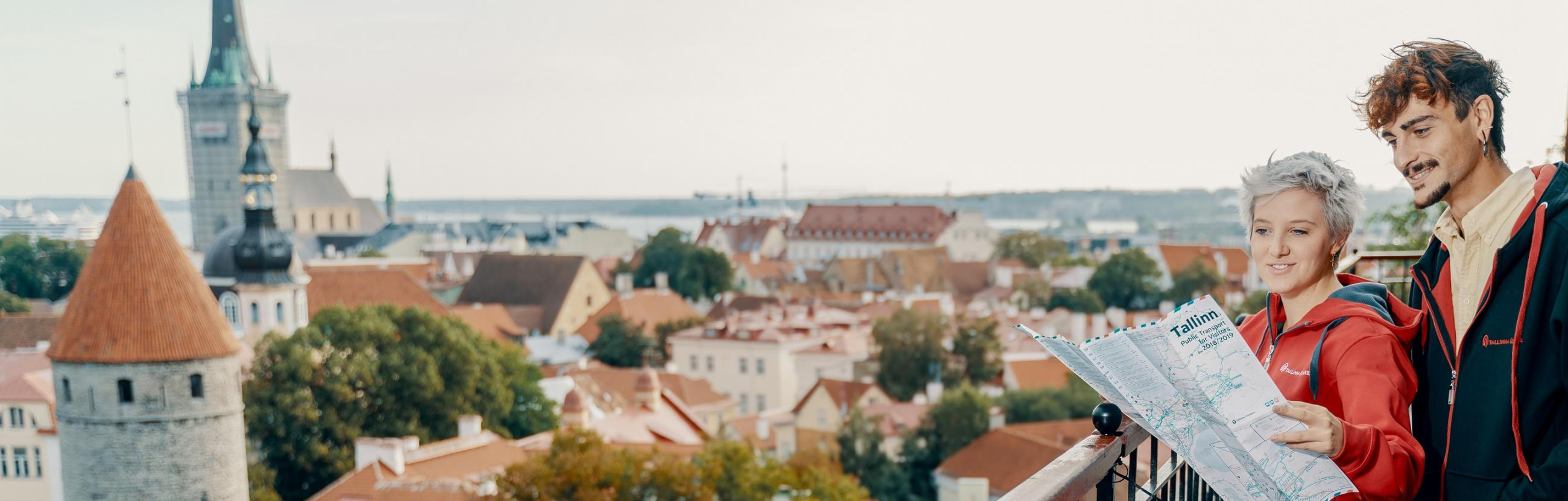 tallinn panorama with students